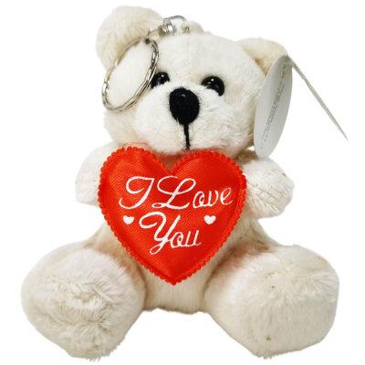 """Bär mit Herz in der Hand inkl. Aufschrift """"I Love you"""" - ca. 11 cm"""