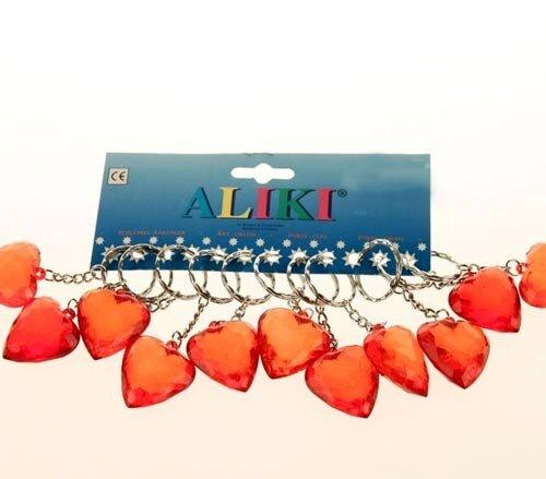Schlüsselanhänger transparentes Herz, 8 cm