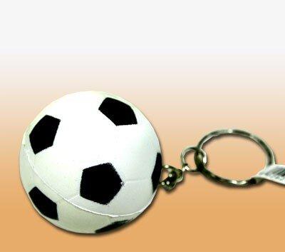Softfussball aus Kunststoff, 4 cm, an Schlüsselkette