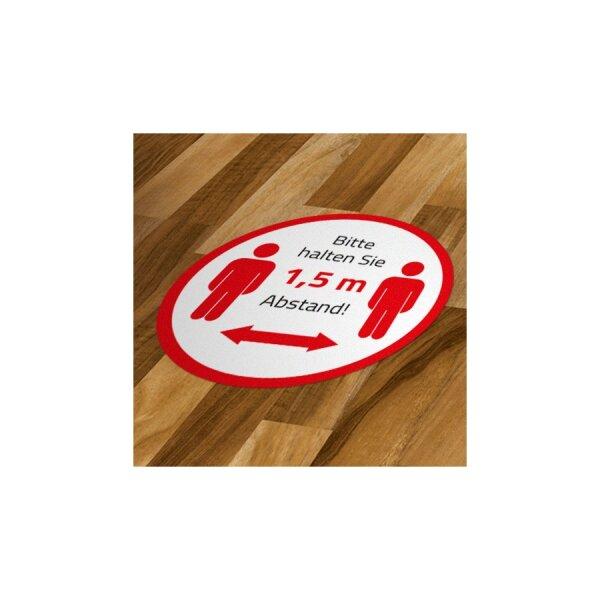 Hygiene-Abstandsaufkleber Durchmesser ca. 50 cm