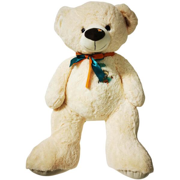 Süßer Teddy mit Flugzeug Stickerei - ca. 70 cm