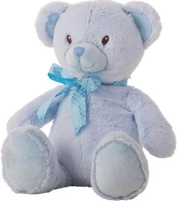 Bär Schleife Satin Rosa und Blau ca. 90cm