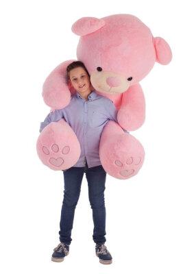 Bär Rosa Schleife XXL 120cm