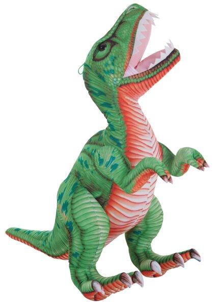 Dinosaurier in grün/orange, 85 cm
