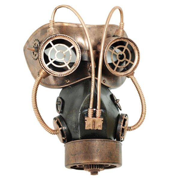 Steampunk Gasmaske bronzefarben