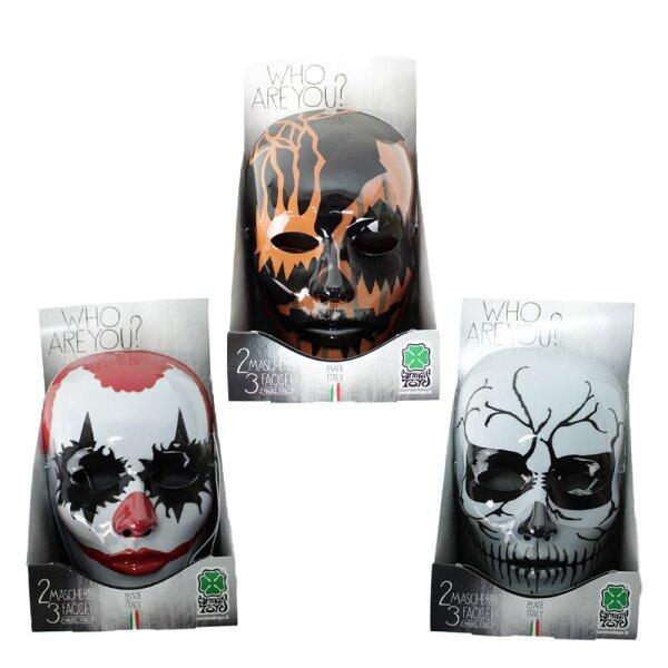 2 Masken 3 Gesichter
