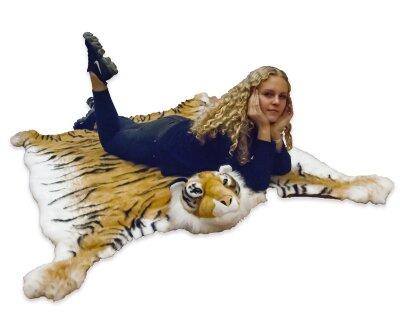 Tiger Teppich oder Vorleger aus Kunstfell ca. 130 x 200 cm