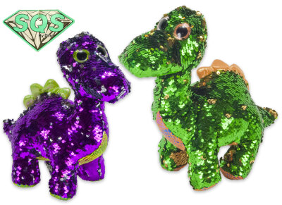 Dino aus Plüsch mit Pailetten ca. 30 cm
