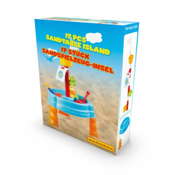 Sandspielzeug-Insel