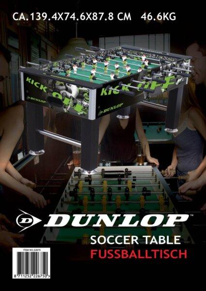 Dunlop-Kicker-Fußball-Tisch, schwarz