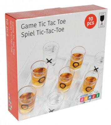 Trinkspiel Tic Tac Toe, 9 Gläser (5x Kreis, 4 x...