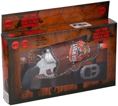 Cowboy Pistolenset, 3teilig, Pistole ca. 27 cm groß...