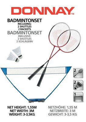 Badmintonset AB Donnay Sl 300x155c incl. Netz &...