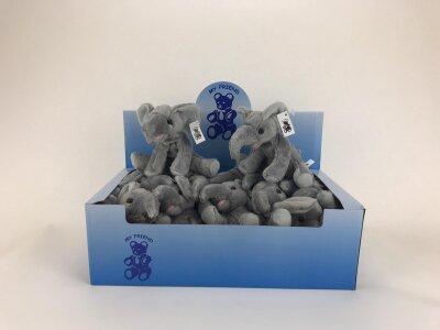 Elefanten aus Plüsch ca. 10 cm im Display