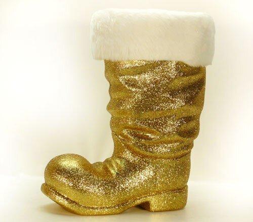 Stiefel 40 cm gold