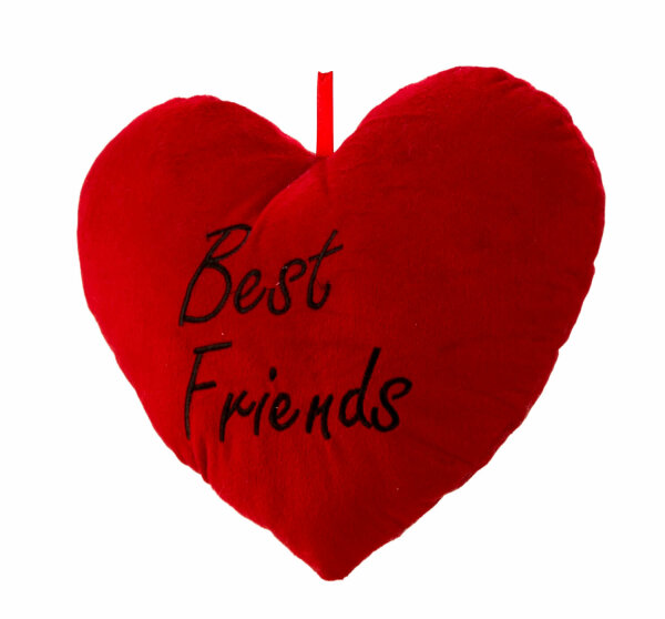Best Friends Kissen in Herzform