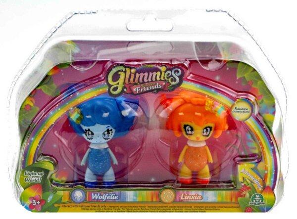 Glimmies Wolfelie & Linxia Set Rainbow Friends