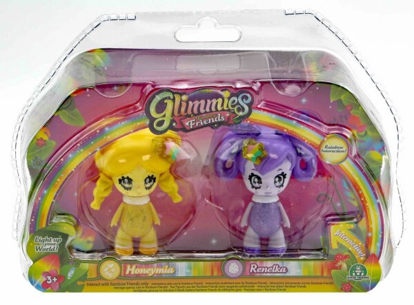 Glimmies Honeymia & Renelka Set Rainbow Friends