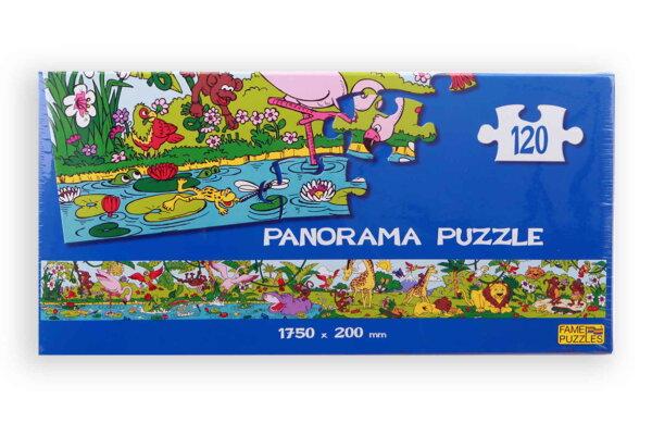 Panorama Puzzle Dschungel/Zootiere, Größe ist ca. 175 cm x 20 cm