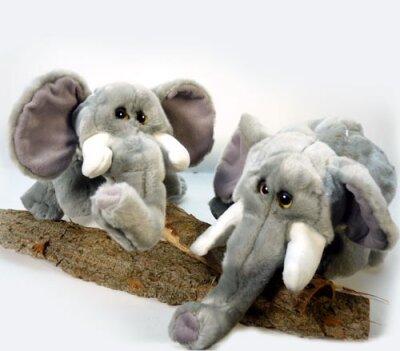 Elefant, Handspielpuppe mit Stimme und nachfolgenden...