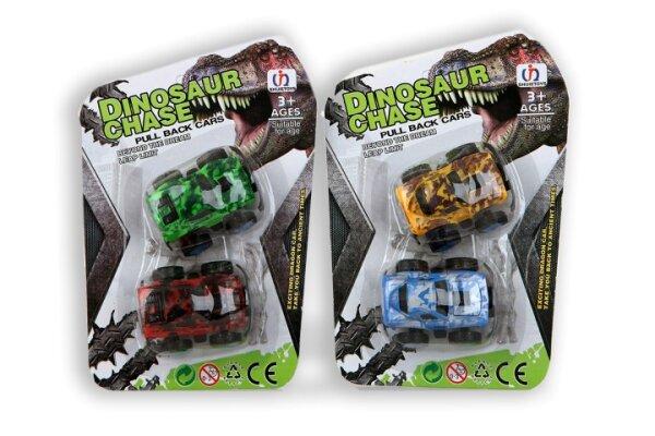 Dino Autos mit Rückzugsmechanismus auf Karte