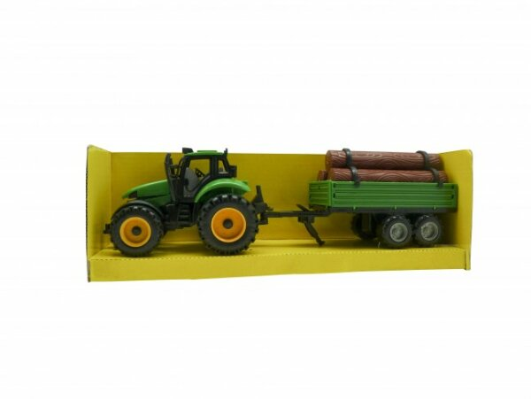großer Traktor mit Anhänger in Sichtbox, ab 3 Jahre, 46x14x14 cm
