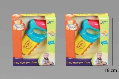 Babyspielzeug,Säge im Sichtkarton, 15x18x5 cm, mit...