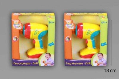 Babyspielzeug,Bohrmaschine im  Sichtkarton, 15x18x5 cm,...