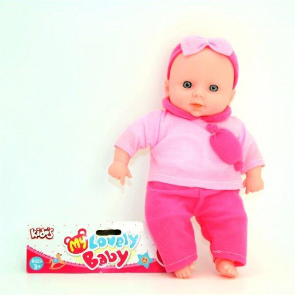 """""""My Lovely Baby"""", liebenswertes Baby, mit Sound, mit pinker Kleidung, kuschelig, ab 3 Jahre, 30 cm"""