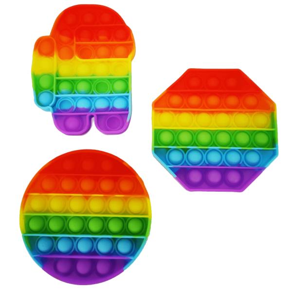 Magic Fidget Toys Pop It Regenbogen