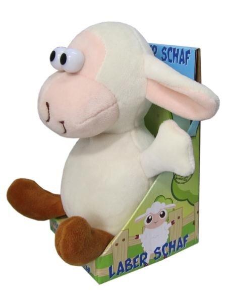 Laber Schaf inkl. Batterien, plappert alles nach, 18x12x17 cm