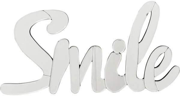 Wandspiegel als SMILE Schriftzug
