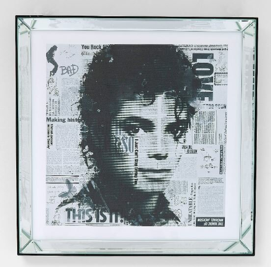Michael Jackson Bild gerahmt ca. 60x60 cm
