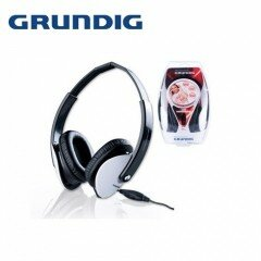 Grundig Kopfhörer in Verpackung, High Perfomance Stereo, schwarz/weiß,18x9x26 cm
