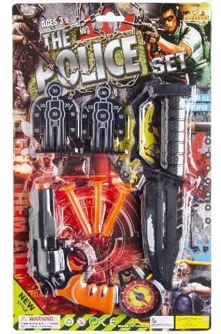 Polizei-Set auf Karte mit viel Zubehör