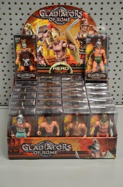 Gladiator in Schachtel, 6 verschiedene Modelle, 11x5,5x3,5 cm, Schachtel 24 Stück