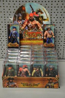 Piratenfiguren im Karton, ca. 11 cm