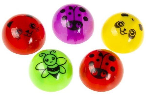 Kugelrückzieher mit süssen Tiermotiven in 4 verschiedenen Farben und 5 verschiedenen Ausführungen. P