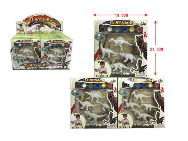 Dino Set zum Selberanmalen