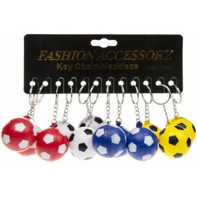 Schlüsselkette Fussball aus Schaumstoff, 4 cm