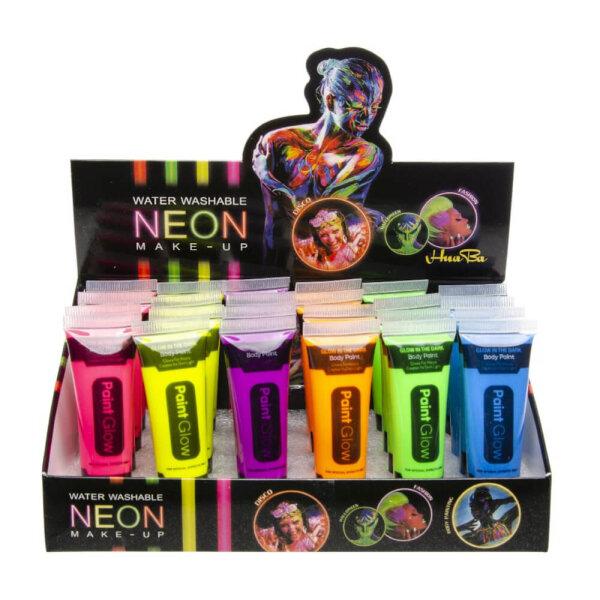 UV-Gesichtsfarbe in 6 verschiedenen Neonfarben