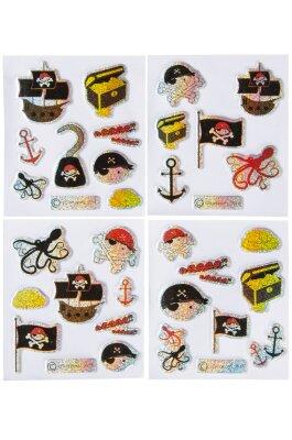 Piraten Sticker - 4 verschiedene Motive