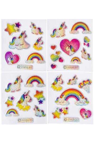 Einhorn Sticker - 4 verschiedene Designs