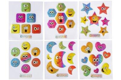 Smiley Sticker - verschiedene Motive