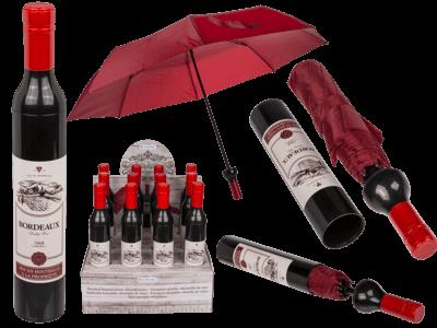 Regenschirm Weinflasche