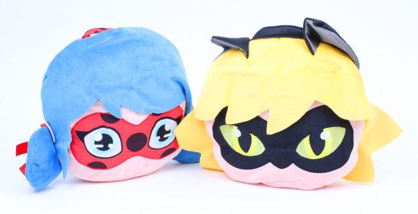 Miraculous Ladybug und Cat Noir Plüsch mit integrierter Tasche