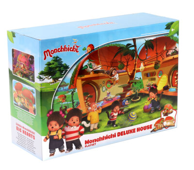 Monchhichi - Haus Deluxe bunt Playset ca. 30 cm