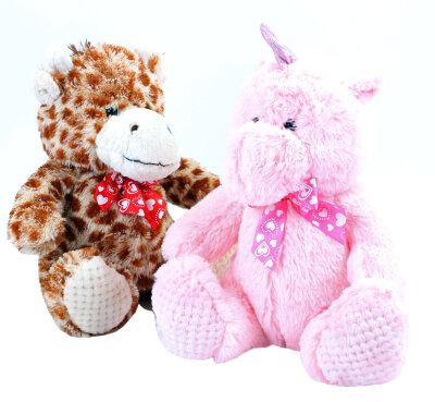 Flauschige Giraffe oder Einhorn aus Plüsch