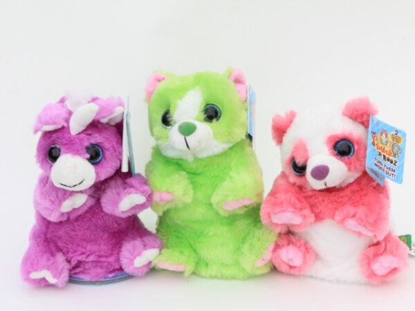 Wechseltiere, Panda, Einhorn und Katze sortiert, 19 cm