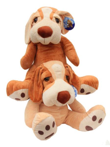 Süßer Plüschhund 2fach sortiert sitzend ca. 40 cm
